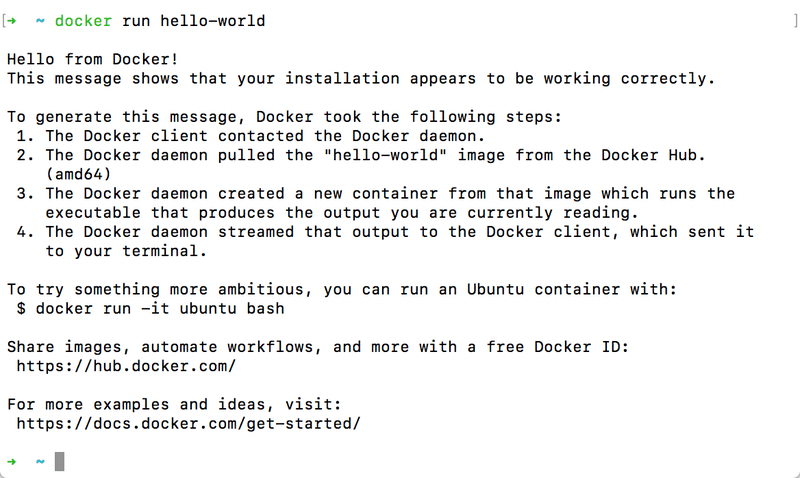 The first container execution
