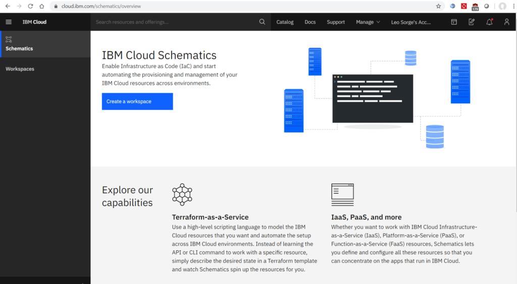 Infrastructure as Code: IBM Schematics