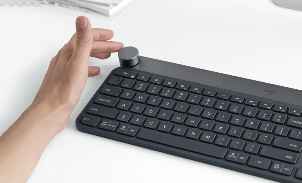 The Logitech Craft keyboard and its creative input dial